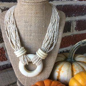 Beautiful Boho Beaded Pendant Necklace !